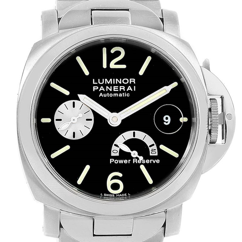 Panerai Luminor Marina Automatic Power Reserve 40mm Watch PAM126 PAM00126 SwissWatchExpo