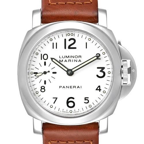 Panerai Luminor Marina 44mm White Dial Watch PAM00003 Box Papers