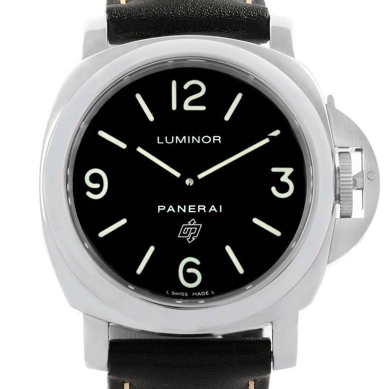 Panerai Luminor Base Logo 44mm Steel Mens Watch PAM000 PAM00000 SwissWatchExpo