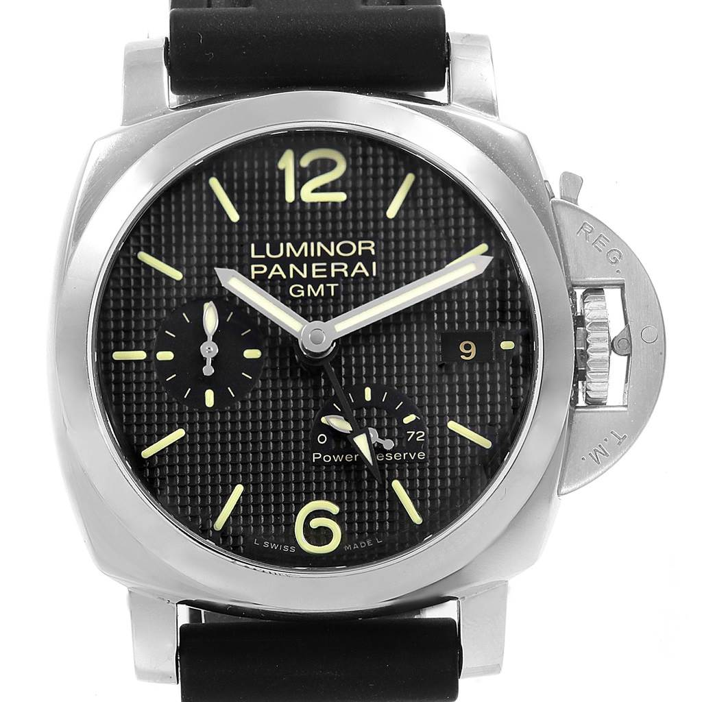 Panerai Luminor 1950 Power Reserve 3 Day GMT Watch PAM00537 Box Papers