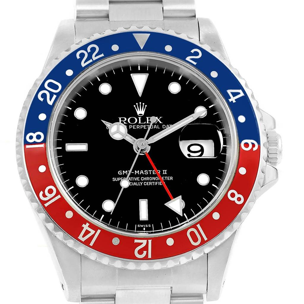 Rolex GMT Master II Pepsi Bezel Mens Watch 16710 Box Papers