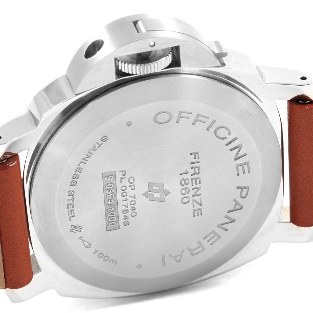 20014 Panerai Luminor Acciaio Logo Tropical Brown Dial 44mm Watch PAM00632 SwissWatchExpo