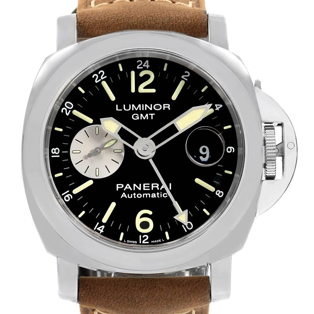 20045 Panerai Luminor GMT Automatic Acciaio Watch PAM01088 Box Papers SwissWatchExpo