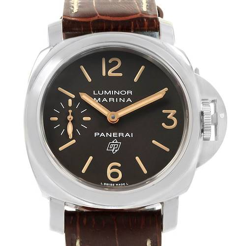 Photo of Panerai Luminor Acciaio Logo Tropical Brown Dial 44mm Watch PAM00632