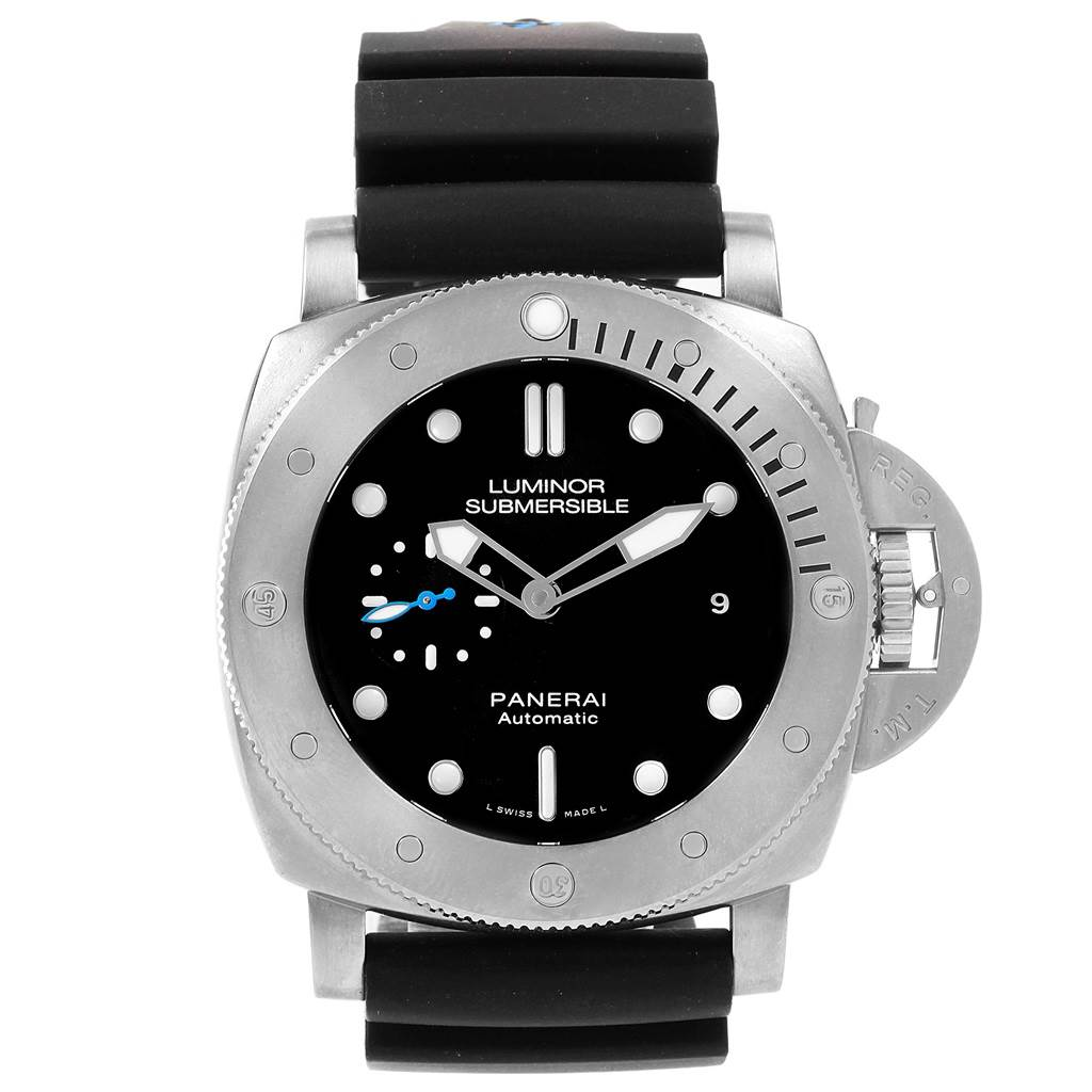20728 Panerai Submersible Titanio 1959 3 Days 47mm Mens Watch PAM01305 SwissWatchExpo