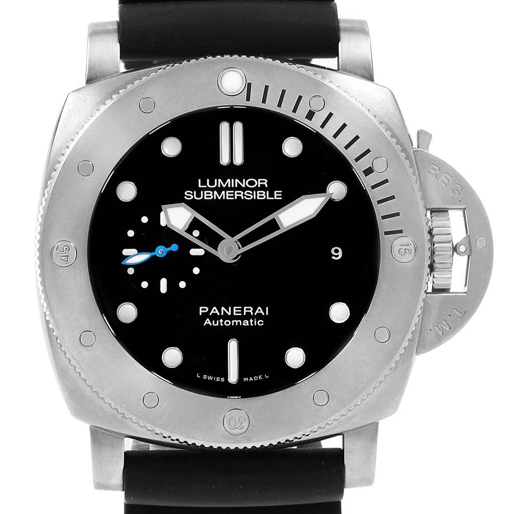 20728 Panerai Submersible Titanio 1959 3 Days 47mm Mens Watch PAM01305 SwissWatchExpo