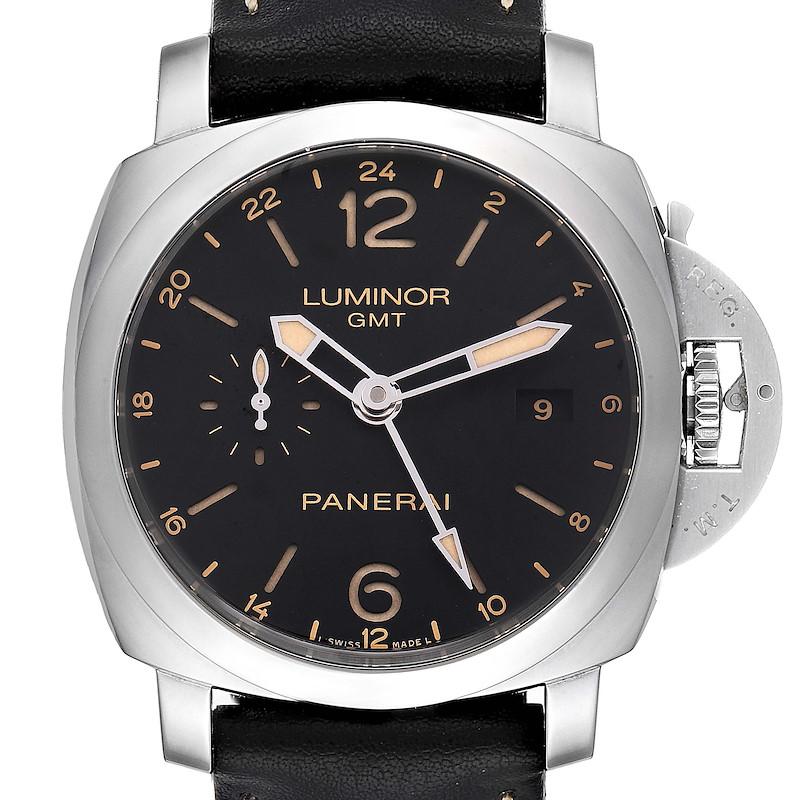 Panerai Luminor 1950 3 Days GMT 24H Acciaio 44mm Watch PAM531 PAM00531 SwissWatchExpo