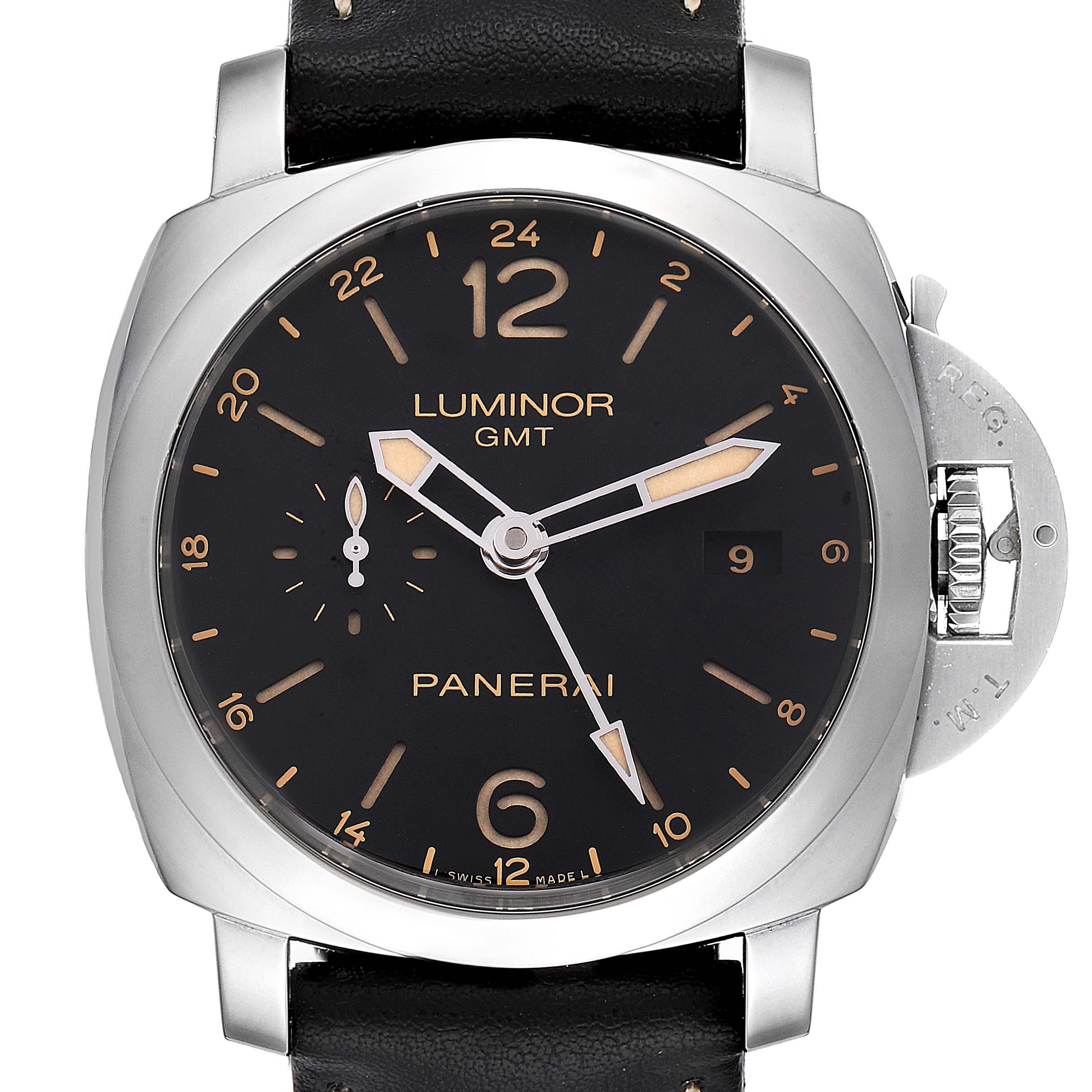 Photo of Panerai Luminor 1950 3 Days GMT 24H Acciaio 44mm Watch PAM531 PAM00531