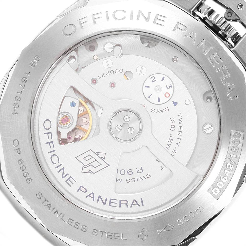 21799 Panerai Luminor 1950 3 Days GMT 24H Acciaio 44mm Watch PAM531 PAM00531 SwissWatchExpo