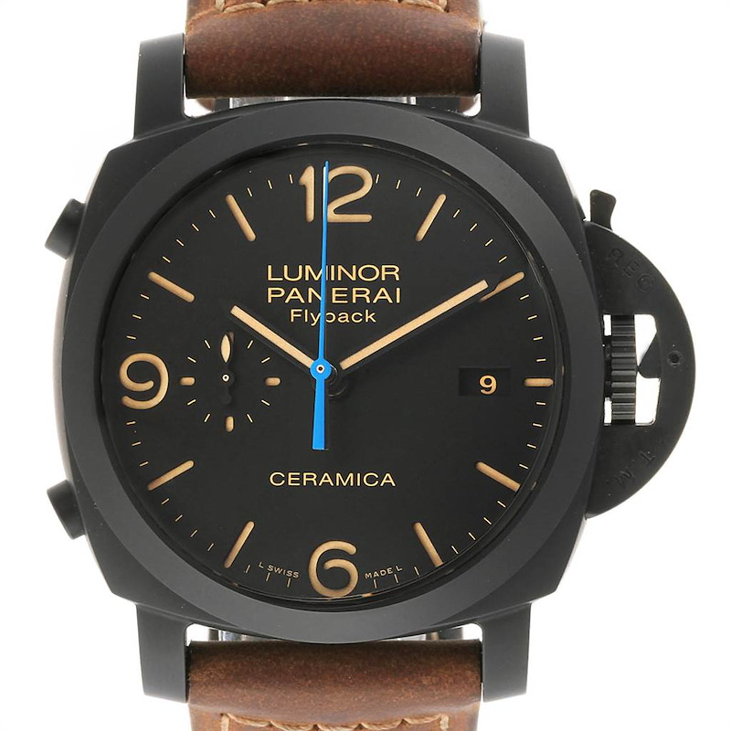 Panerai Luminor 1950 3 Days Chrono Flyback Ceramica 44 Watch PAM00580 SwissWatchExpo
