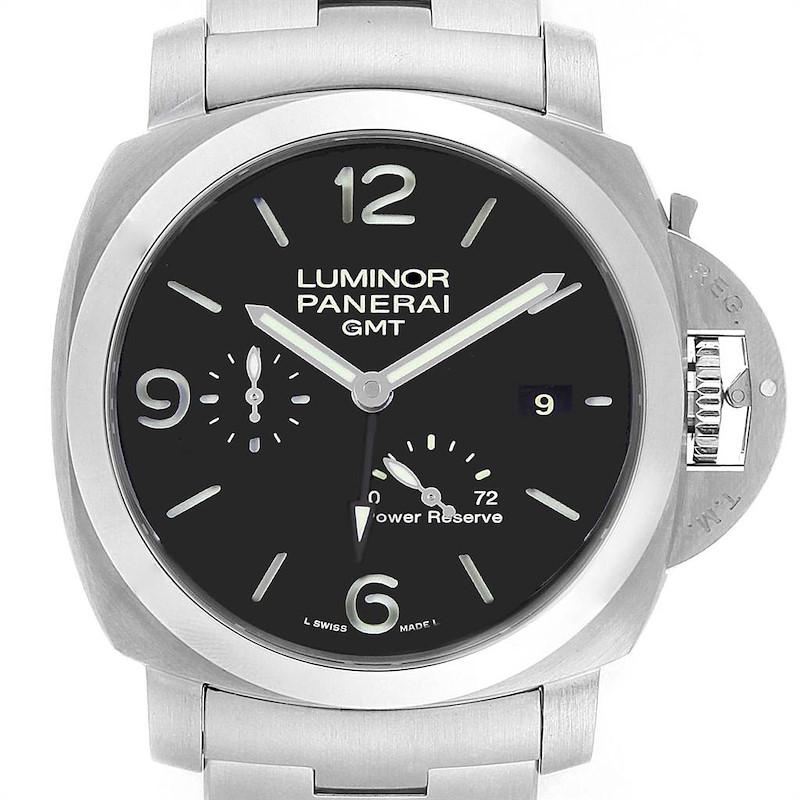 Panerai Luminor 1950 3 Days GMT 44mm Watch PAM00347 Box Papers SwissWatchExpo