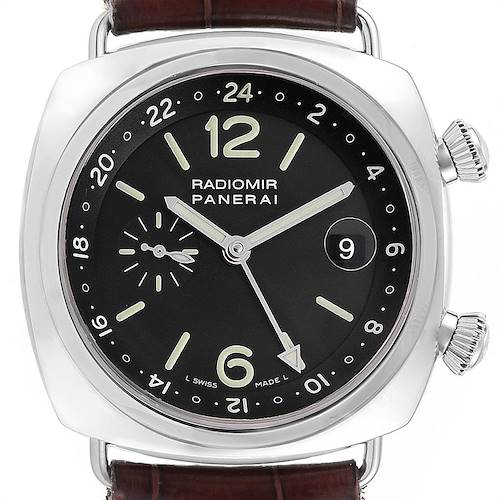 Photo of Panerai Radiomir GMT Dual Time 42 Steel Mens Watch PAM00184 Box Papers
