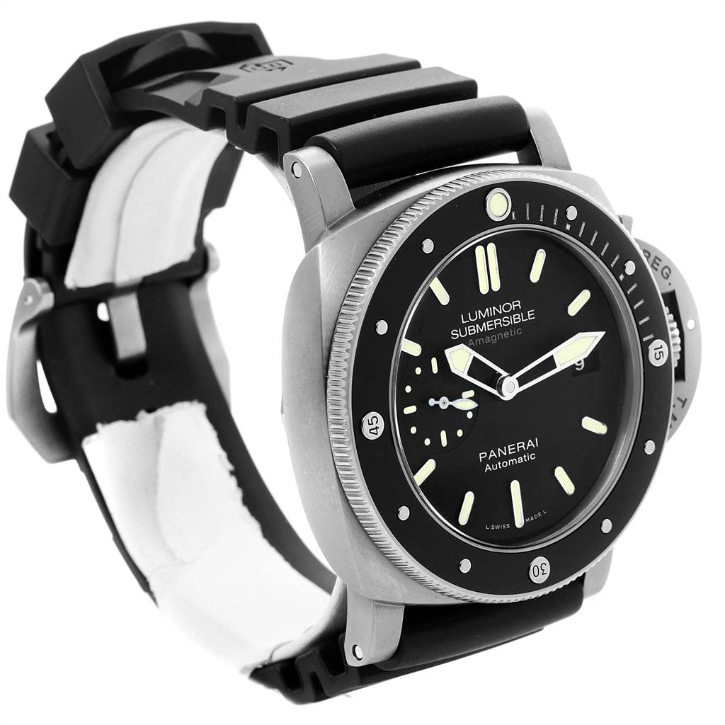 23160 Panerai Luminor Submersible 1950 Titanium Amagnetic 3 Days Watch PAM00389 SwissWatchExpo