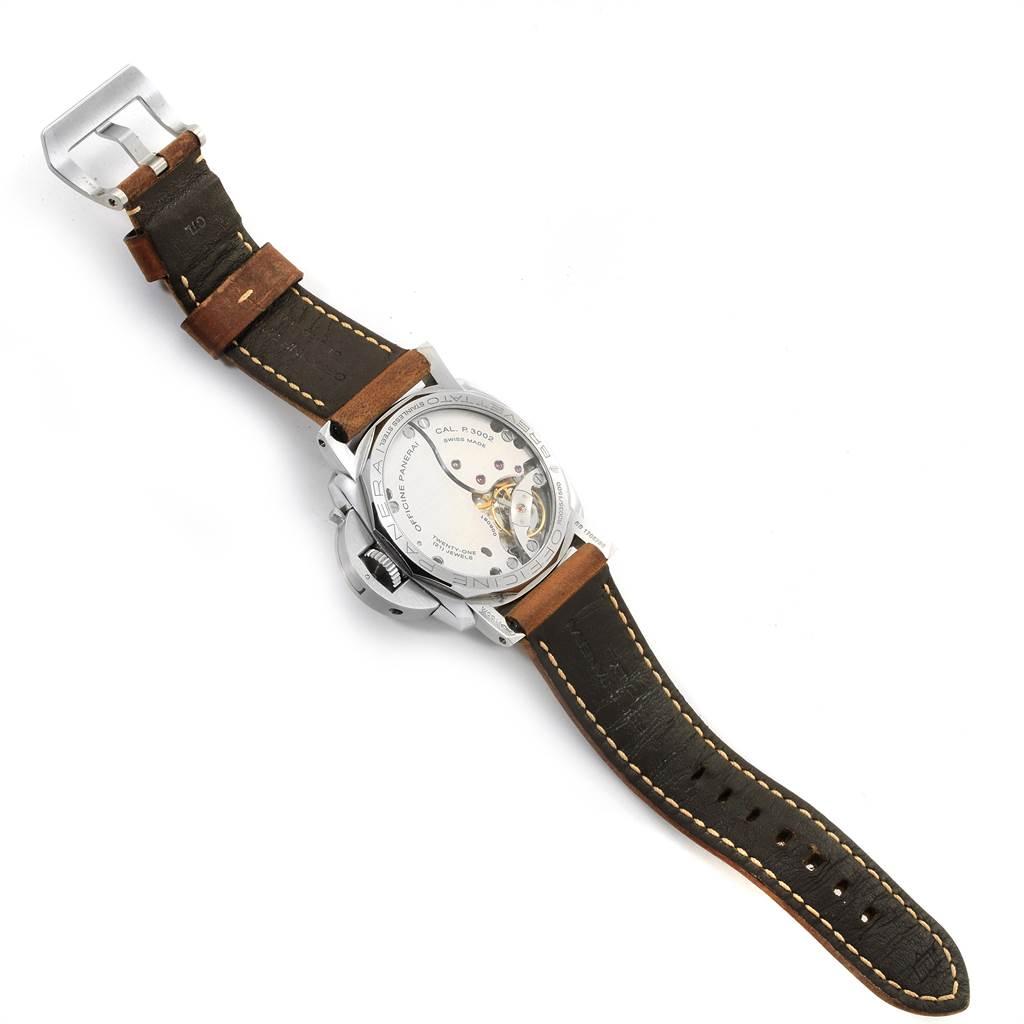 23159 Panerai Luminor 1950 Acciaio 47mm 3 Days Power Reserve Watch PAM00423 SwissWatchExpo