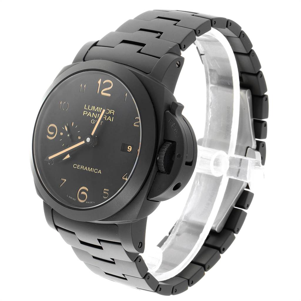 Panerai Luminor 1950 3 Days Tuttonero GMT Ceramic Mens Watch PAM00438 SwissWatchExpo