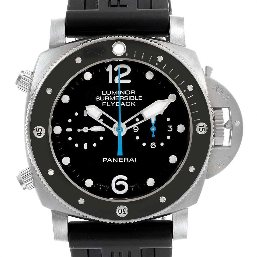 Panerai Luminor Submersible 3 Days Chrono Flyback Mens Watch PAM00615 SwissWatchExpo