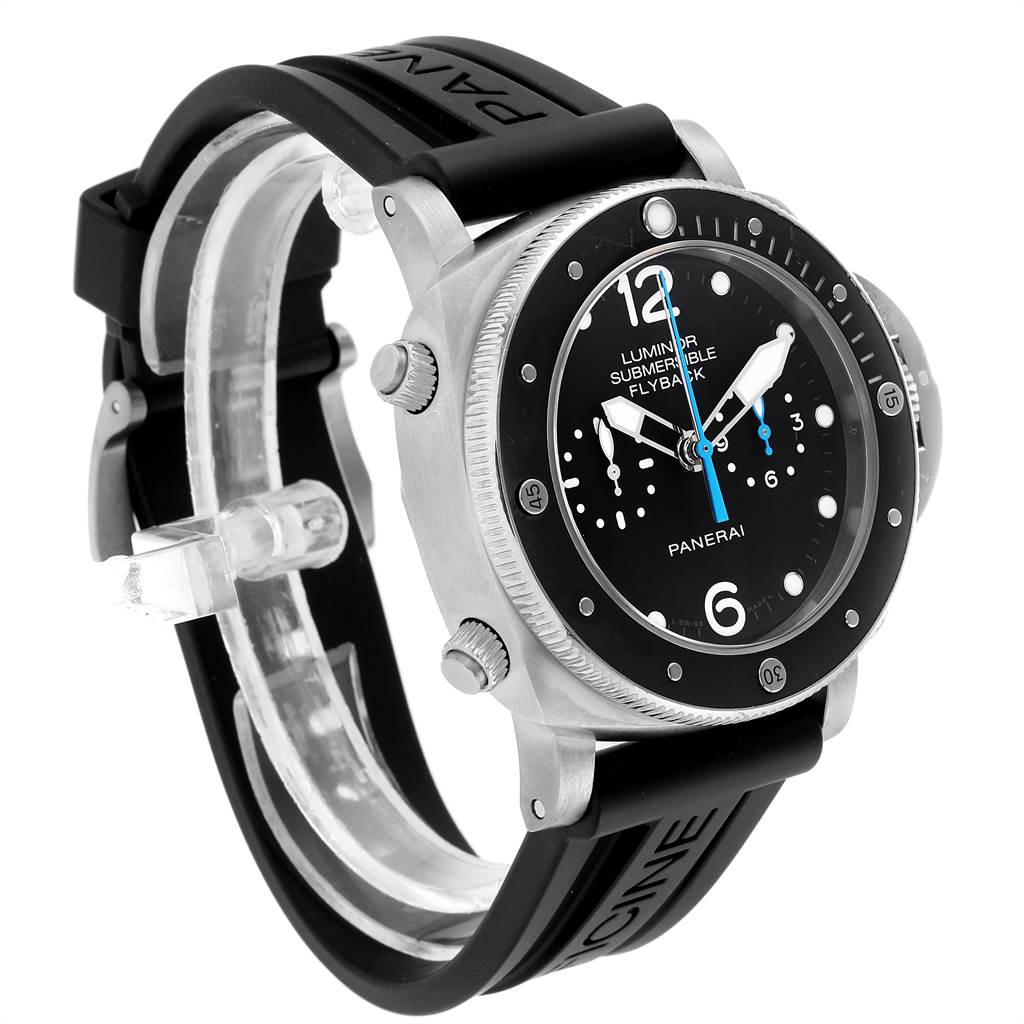 24053 Panerai Luminor Submersible 3 Days Chrono Flyback Mens Watch PAM00615 SwissWatchExpo