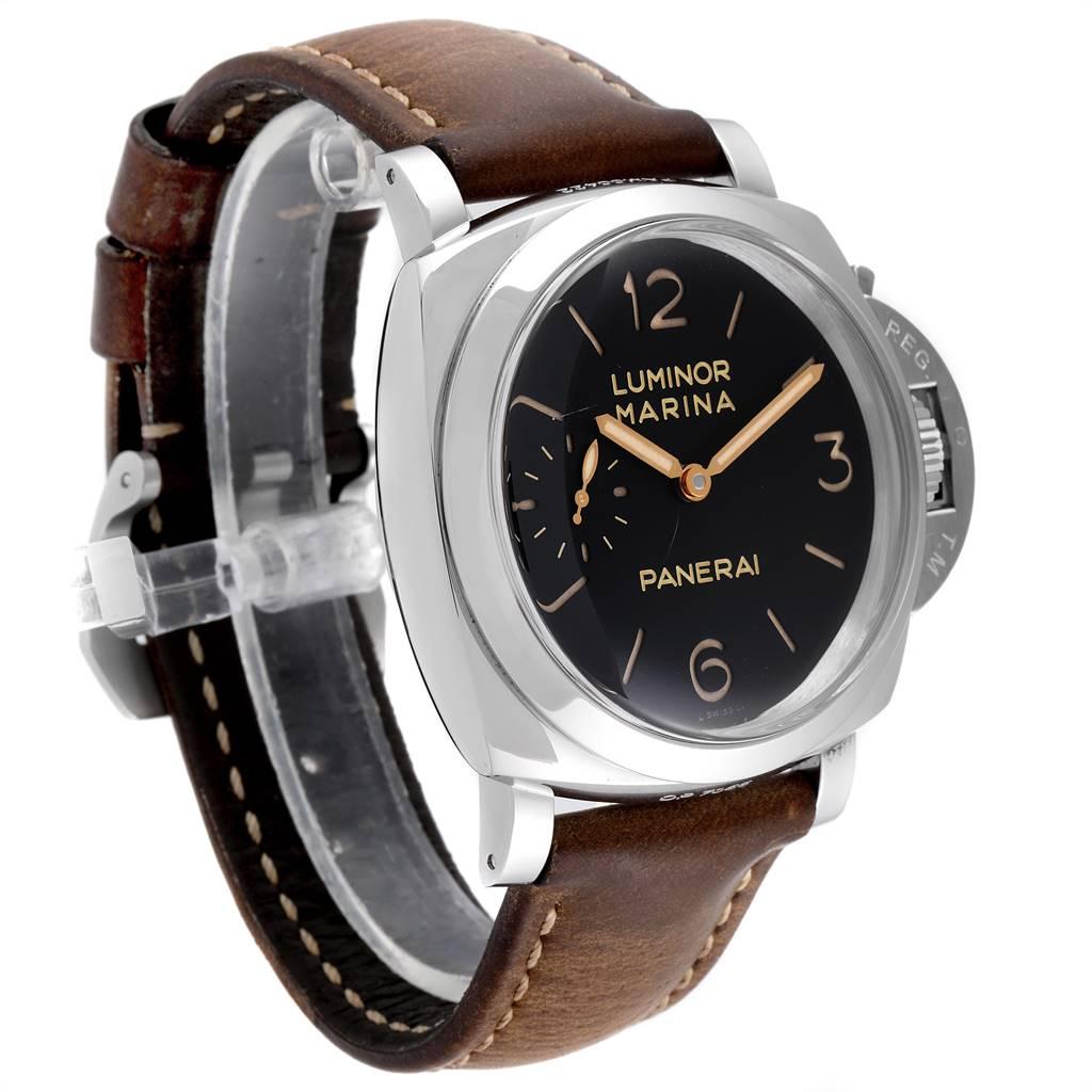 24759 Panerai Luminor 1950 Acciaio 47mm 3 Days Power Reserve Watch PAM00422 SwissWatchExpo