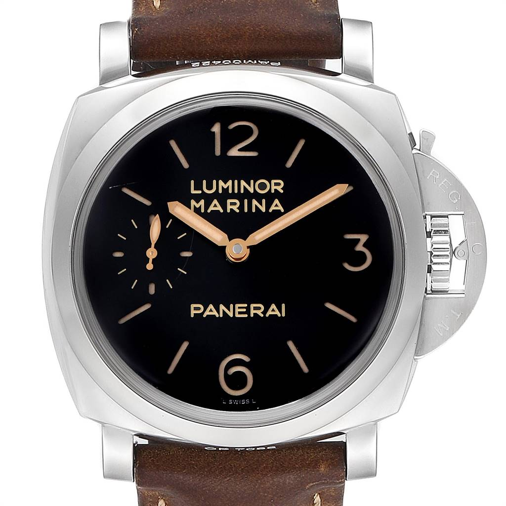 Panerai Luminor 1950 Acciaio 47mm 3 Days Power Reserve Watch PAM00422