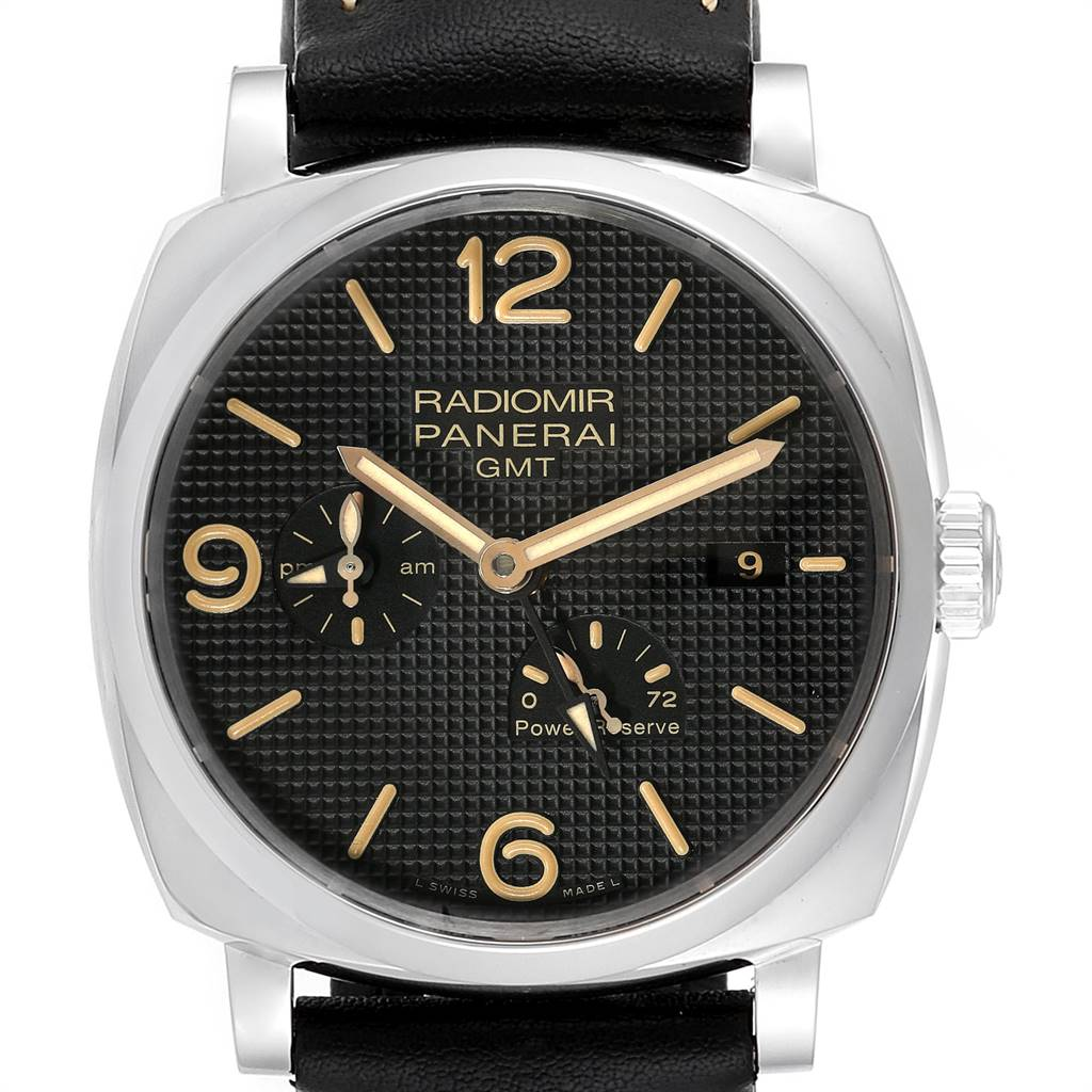 Panerai Radiomir 1940 GMT Power Reserve Mens Watch PAM00628 Box Papers