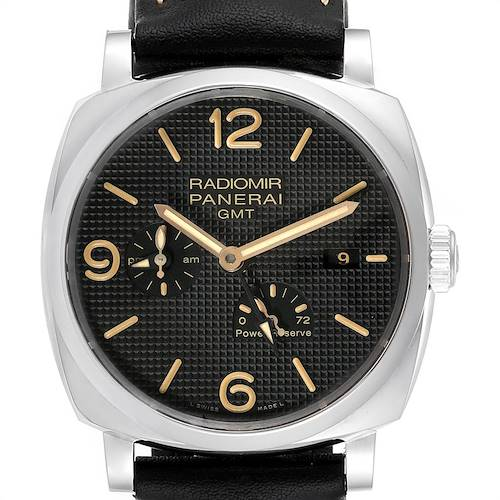 Photo of Panerai Radiomir 1940 GMT Power Reserve Mens Watch PAM00628 Box Papers