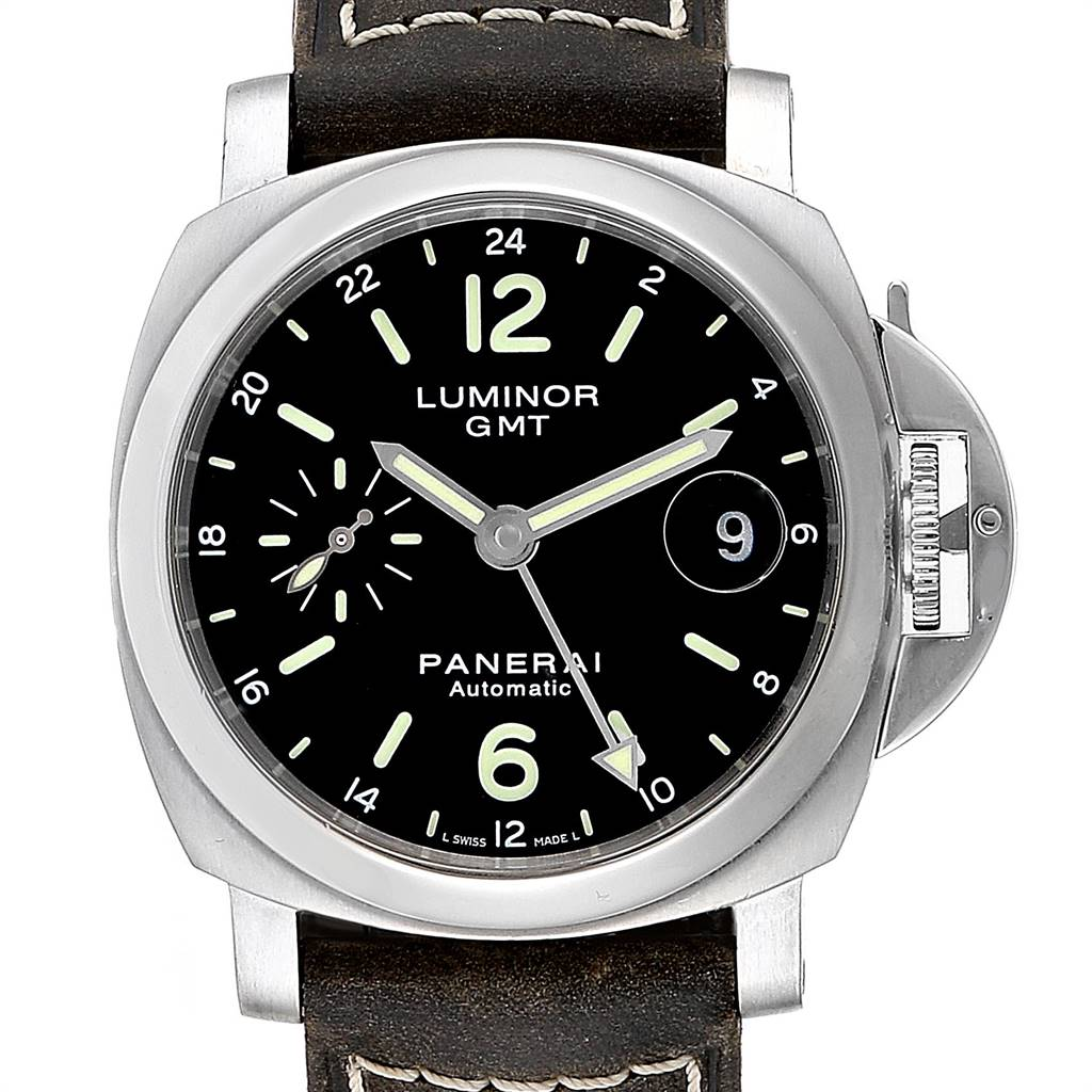 Panerai Luminor GMT 40mm Steel Mens Watch PAM00244