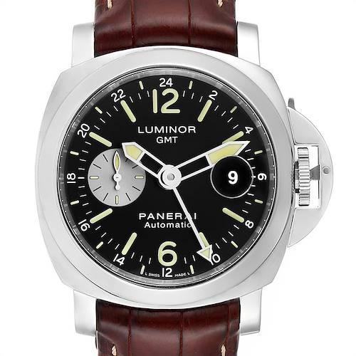 Photo of Panerai Luminor GMT Brown Strap Automatic Mens Watch PAM00088