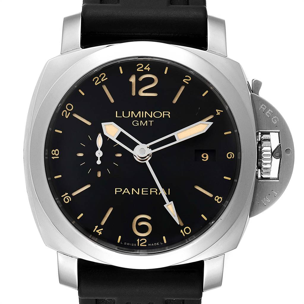 Panerai Luminor GMT 44mm Steel Mens Watch PAM00531 Box Papers