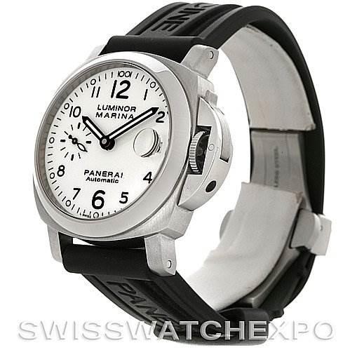 Panerai Luminor Marina Automatic 40mm Steel Watch PAM 049 SwissWatchExpo