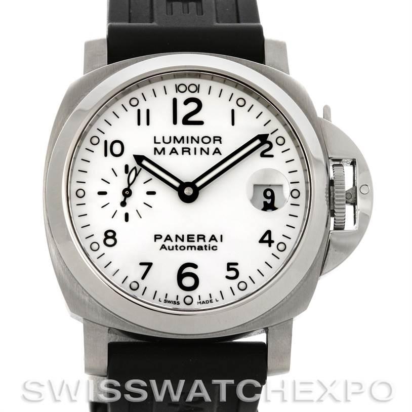 4177 Panerai Luminor Marina Automatic 40mm Steel Watch PAM 049  SwissWatchExpo 6ed912aebdb7