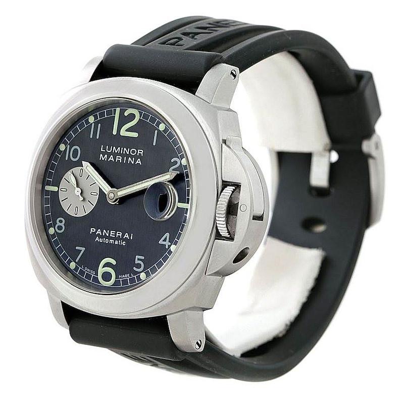 Panerai Luminor Marina Firenze 44mm Steel Watch PAM00086 PAM 86 SwissWatchExpo