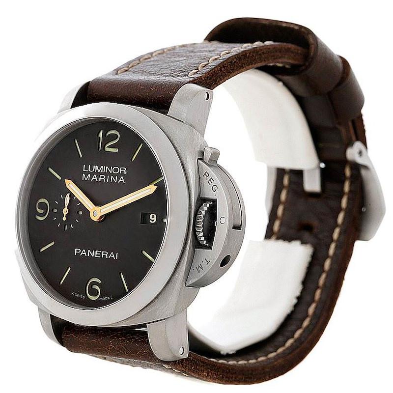 Panerai Luminor Marina 1950 Titanium 44mm Watch PAM 351 PAM00351 SwissWatchExpo