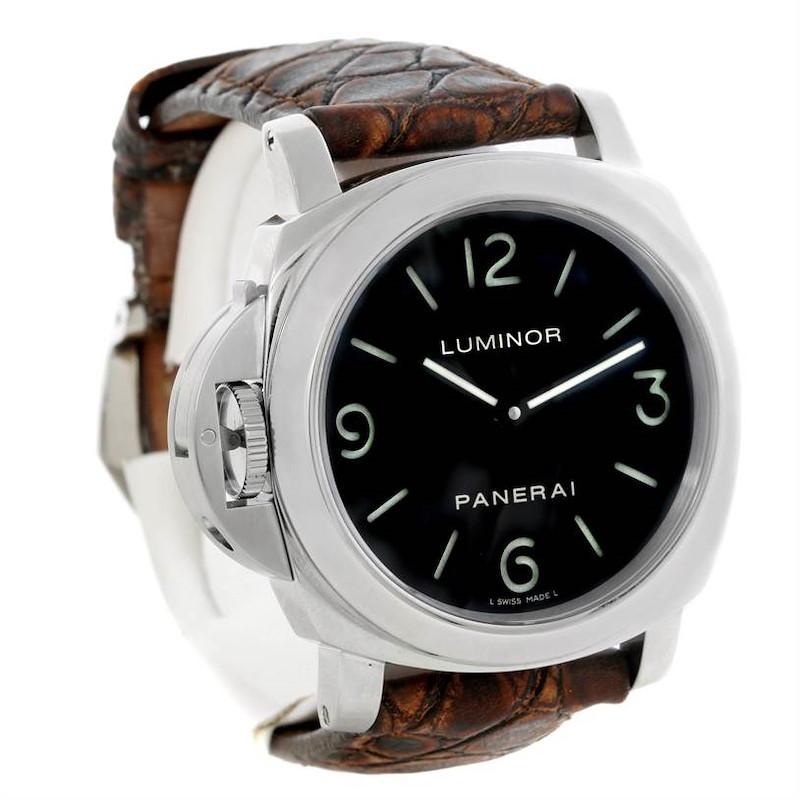 Panerai Luminor Base 44mm Mechanical Watch PAM219 PAM00219 SwissWatchExpo