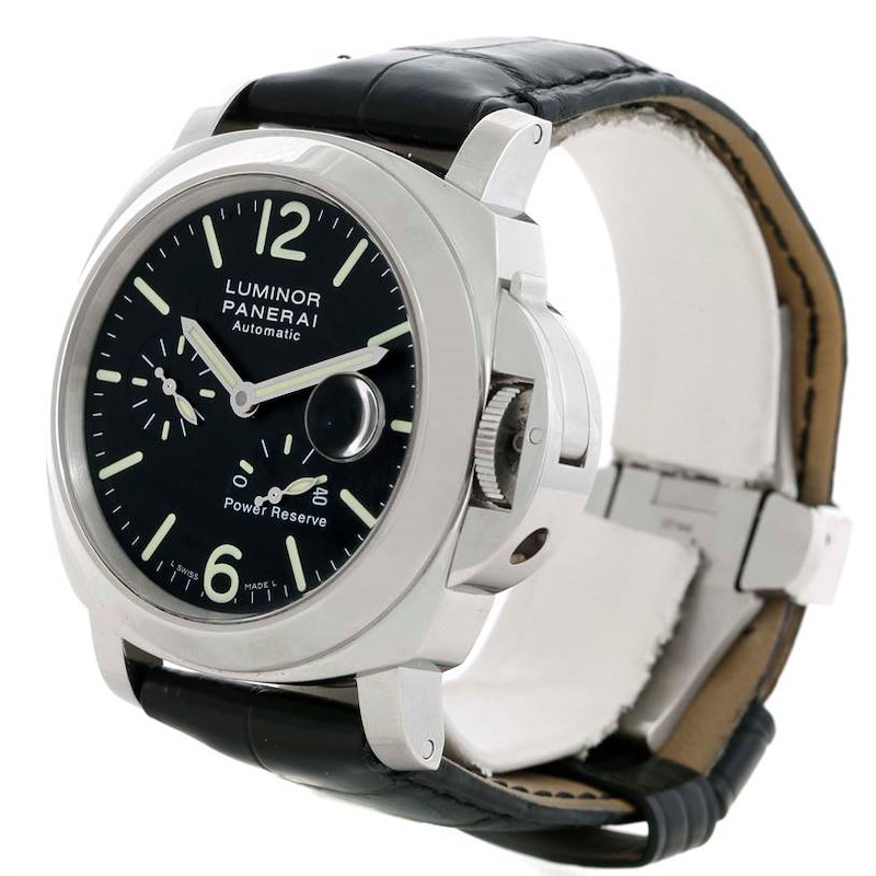 Panerai Luminor Power Reserve Automatic Acciaio 44mm Watch PAM00090 SwissWatchExpo