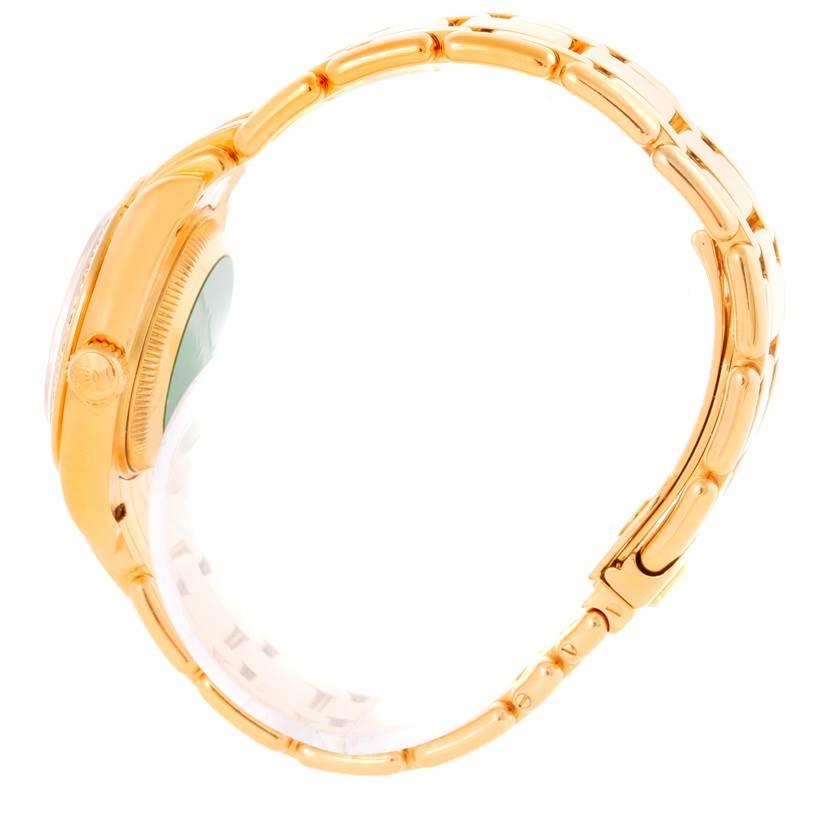 10395 Rolex Pearlmaster Yellow Gold Diamond Dial Bezel Ladies Watch 69298 SwissWatchExpo