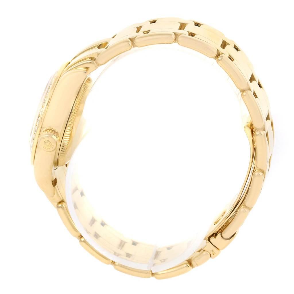 13647 Rolex Pearlmaster Yellow Gold Diamond Dial Bezel Ladies Watch 69298 SwissWatchExpo