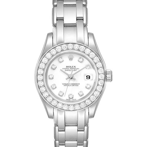Photo of Rolex Pearlmaster 29mm White Gold Diamond Ladies Watch 80299