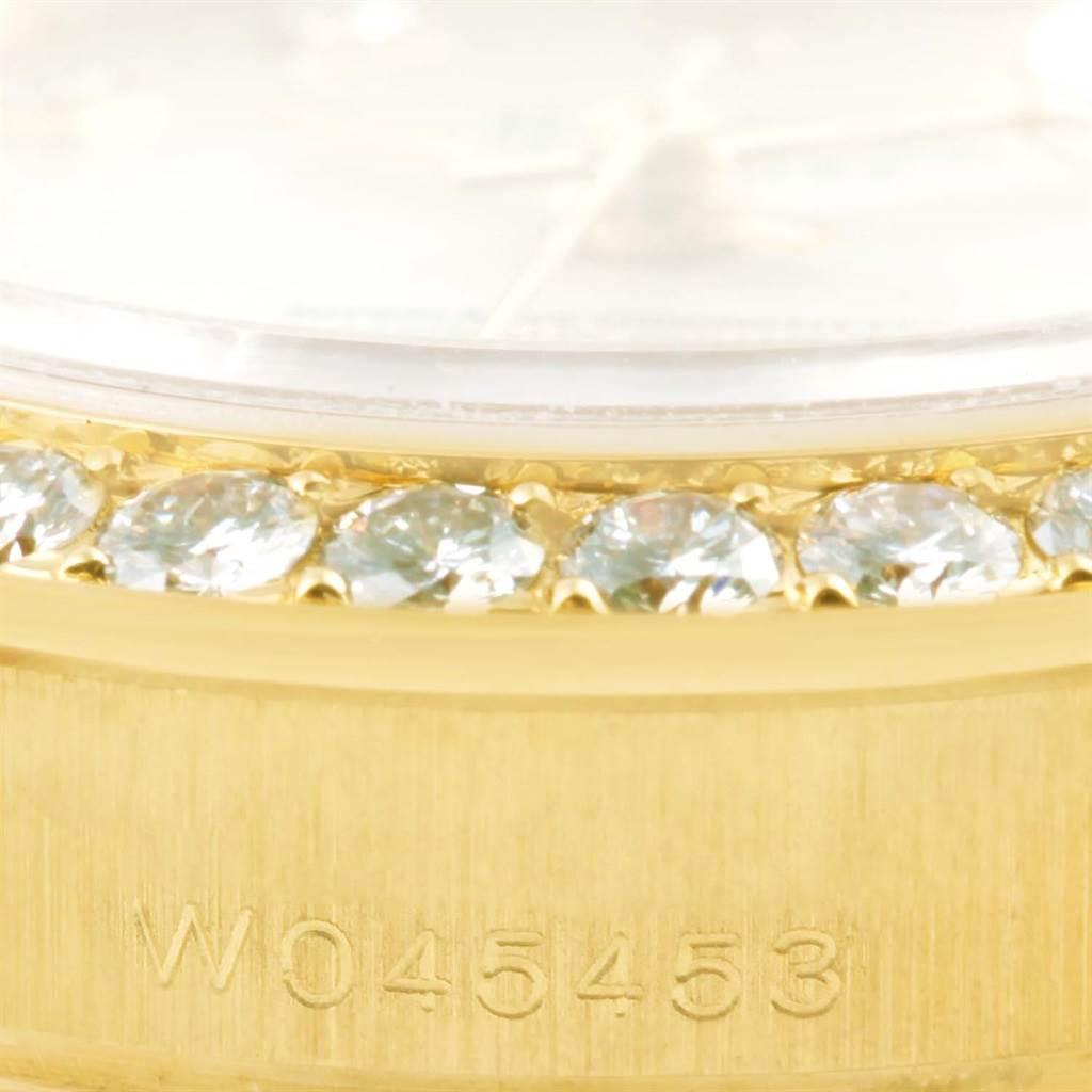 13827A Rolex Pearlmaster 18K Yellow Gold MOP Diamond Ladies Watch 69298 SwissWatchExpo