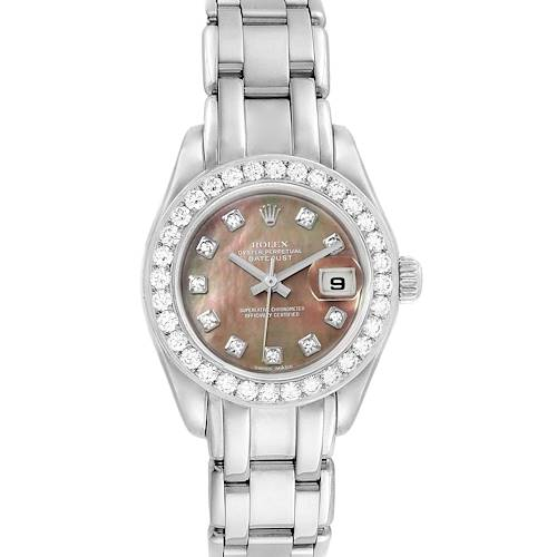 Photo of Rolex Pearlmaster 18K White Gold MOP Diamond Ladies Watch 80299