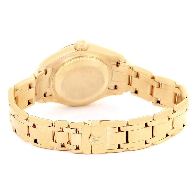 Rolex Pearlmaster Yellow Gold Diamond Ladies Watch 69298 SwissWatchExpo